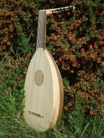 Mittelalter Laute 15 Saiten mit Tasche und Lehrbuch
