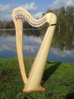 """Harfe 22 Saiten """"Extra"""" Roundback Esche + Zubehör"""