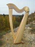 """Harfe 22 Saiten """"Extra"""" NA Roundback Esche + Zubehör"""