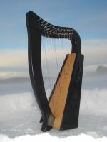 Harfe 12 Saiten + Zubehör + Notenheft
