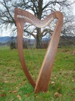 Harfe 27 Saiten Rosenholz glatt C3, neue Klappen + Füße + Zubehör