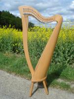 Roundback Harfe 24 Saiten Buche Klappensystem neu Füße + Tasche