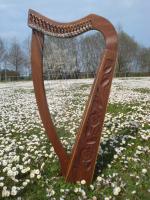 Harfe 19 saiten Rosenholz, alte Klappen + Zubehör