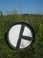 Bodhran 35 cm 14 Zoll Durchmesser mit Tasche und Schlägel