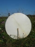 Bodhran stimmbar 45 cm 18 Zoll Durchmesser mit Tasche und Schlägel
