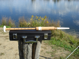 Practice Chanter Kokosholz + Koffer + 2 Blättchen (Reeds)