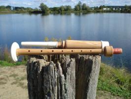 Practice Chanter Kokospalmenholz + 1 Blättchen (Reed)