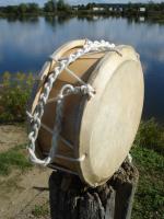 Tabor Drum 26 / 23 cm Durchmesser mit Tragekordel + Schlägel