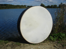 Bodhran 40 cm 16 Zoll Durchmesser mit Tasche und Schlägel