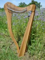Harfe 22 Saiten unverziert Walnuss mit Tasche