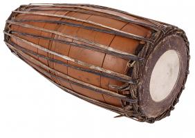 Indische Mridadangam Trommel + Instrumententasche